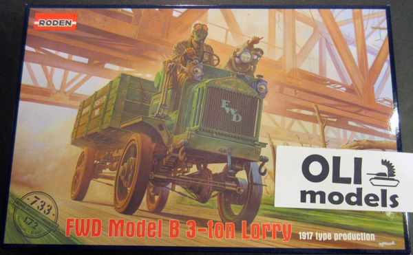 1/72 WWI FWD Model B 3-Ton Lorry US Army Truck - Roden 733