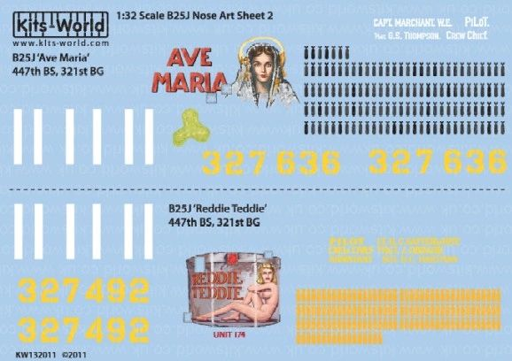 1/32 B25J Ava Maria, Reddie Freddie - WBS-132011
