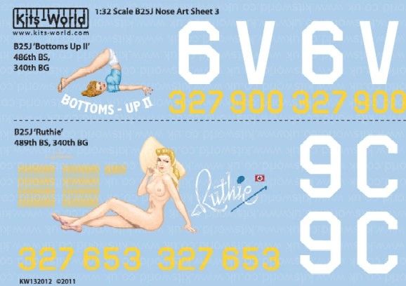 1/32 B25J Bottoms-UP II, Ruthie - WBS-132012