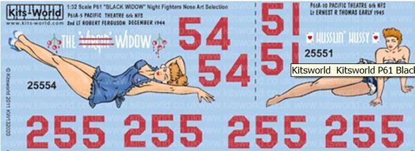 1/32 P61 Virgin Widow, Husslin Hussy Pacific Theatre 1944-45 - WBS-132020