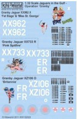 1/32 Sepecat Jaguar GR1A Operation Granby Fat Slags, Pink Spitfire, Britannia - WBS-132022