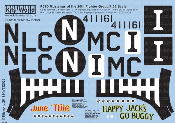 1/32 P51D Happy Jacks Go Buggy, June Nite - WBS-132026