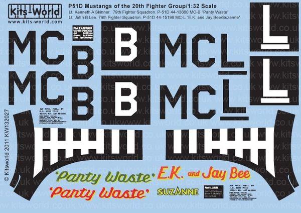 1/32 P51D Panty Waste, EK & Jay Bee Suzanne - WBS-132027