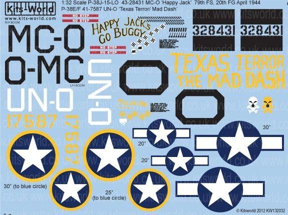 1/32 P38 Happy Jacks Go Buggy, Texas Terror/Mad Dash - WBS-132032