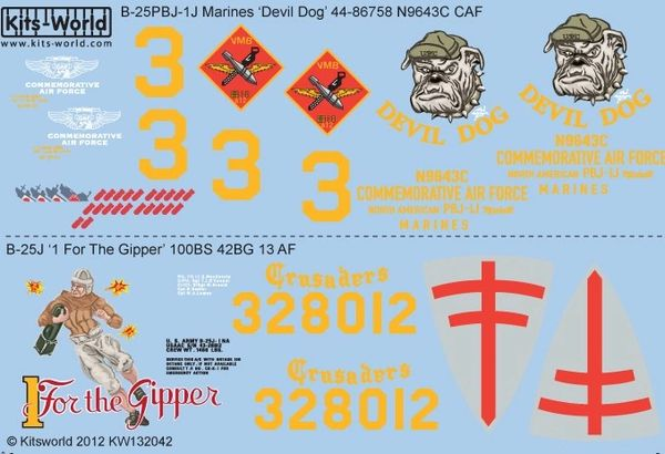 1/32 B25J Devil Dog, 1 For the Gipper - WBS-132042
