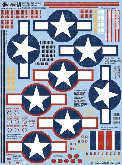 1/32 B25/17/26 General Stenciling, Stars & Bars - WBS-132047