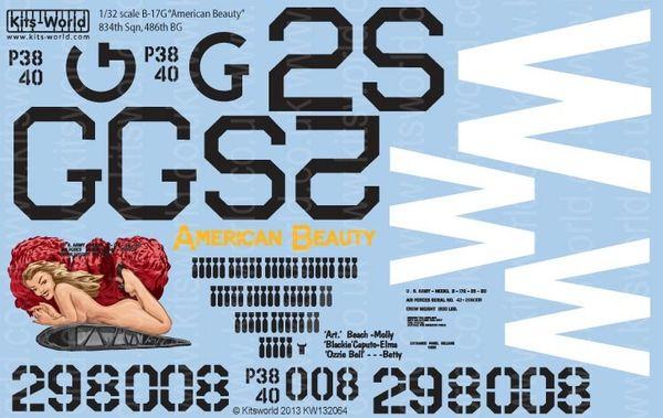 1/32 B17G American Beauty - WBS-132064