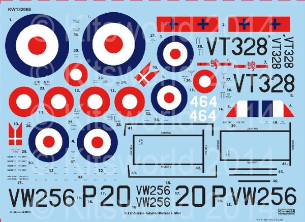 1/32 Gloster Meteor F Mk IV 263rd Sq., 207th Advanced Flying School RAF & 464th Royal Danish Naval Air Service for HKM - WBS-132068