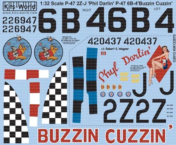 1/32 P47D Phyl Darlin, Buzzin Cuzzin - WBS-132070
