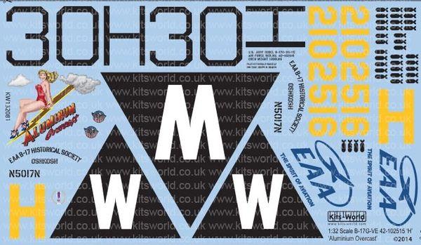 1/32 B17G Aluminum Overcast - WBS-132081