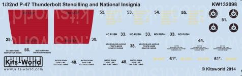1/32 P47 Stenciling & National Insignia - WBS-132098
