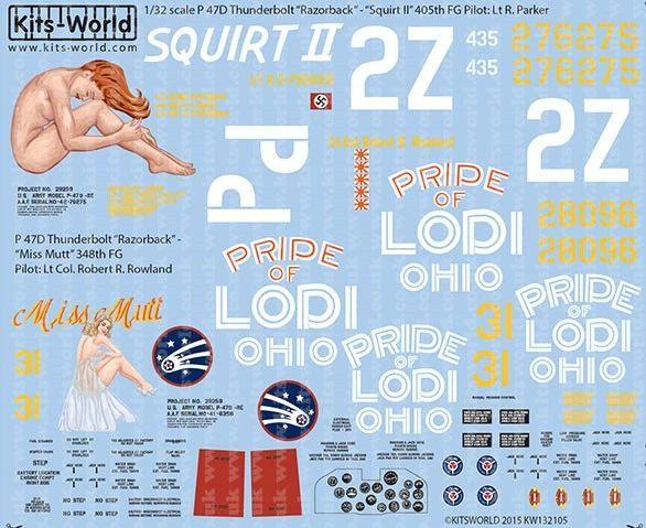 1/32 P47D Squirt II, Miss Mutt - WBS-132105
