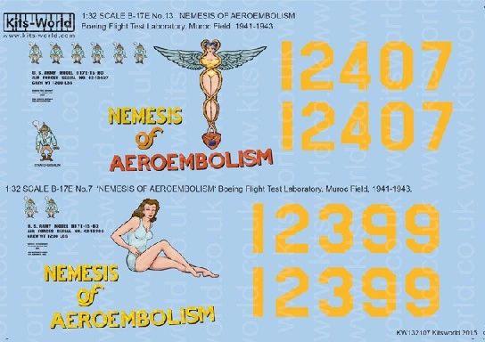 1/32 B17E No7 & 13 Nemesis of Aeroembolism - WBS-132107