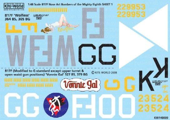 1/48 B17s Mighty 8th AF Wolfess, Vonnie Gal - WBS-148009