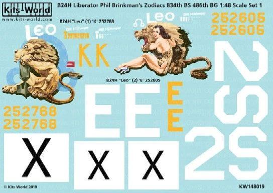 1/48 B24H 486th BG Leo Version I/II Zodiacs - WBS-148019