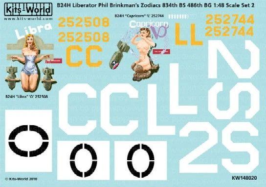 1/48 B24H 486th BG Libra, Capricorn Zodiacs - WBS-148020