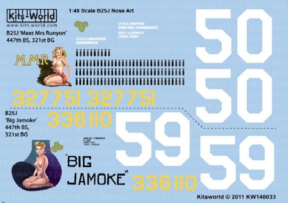 1/48 B25J Meet Mrs Runyon, Big Jamoke - WBS-148033