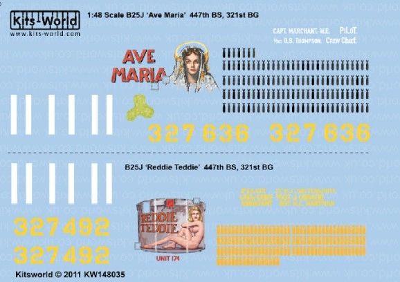 1/48 B25J Ava Maria, Reddie Freddie - WBS-148035