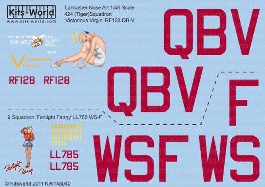 1/48 Avro Lancaster Victorious Virgin, Fannin Fanny - WBS-148040