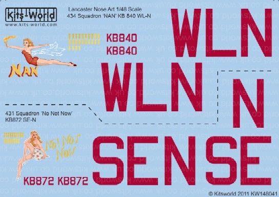 1/48 Avro Lancaster Nan, No Not Now - WBS-148041