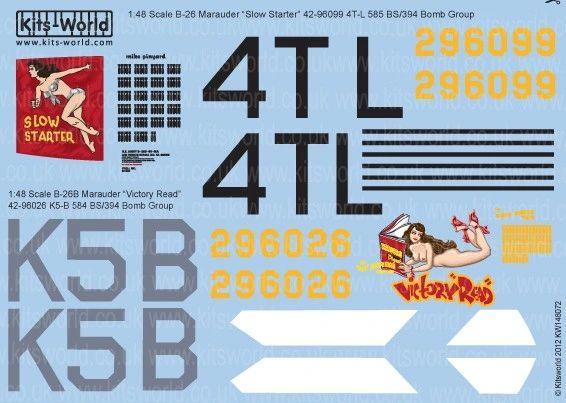 1/48 B26B Victory Read, Slow Starter - WBS-148072