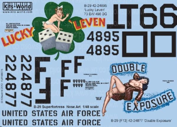 1/48 B29 Lucky Leven, Double Exposure - WBS-148075