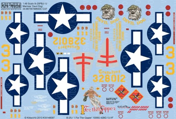 1/48 B25J Devil Dog, 1 For the Gipper - WBS-148097
