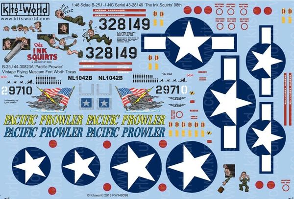 1/48 B25J The Ink Squirts, Pacific Prowler - WBS-148098