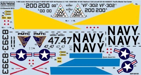 1/48 F4B/QF4B18 Stallions Naval Air Station, Phantom II Pacific Missile Test Center - WBS-148105