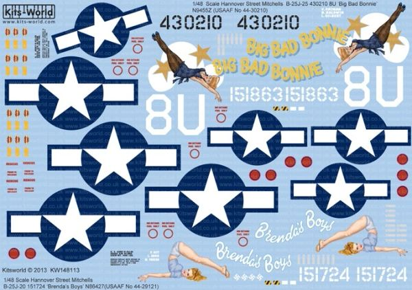 1/48 B25J Big Bad Bonnie, Brenda's Boys - WBS-148113