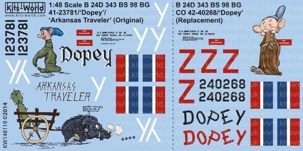 1/48 B24D Dopey Version I/II, Arkansas Traveler - WBS-148119
