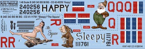 1/48 B24D Happy, Sleepy, The Squaw - WBS-148123