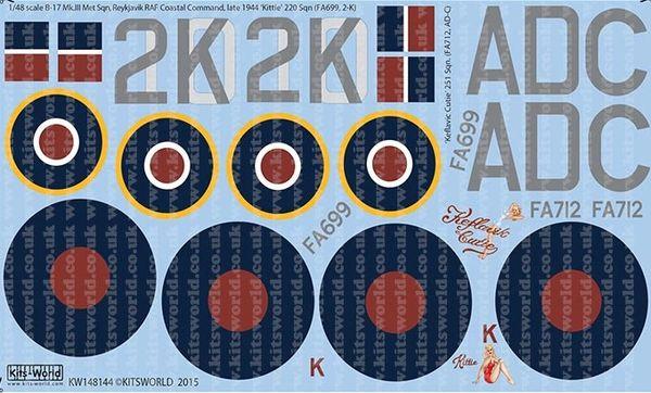1/48 B17 Mk III Kittie, Keflavic Cutie - WBS-148144