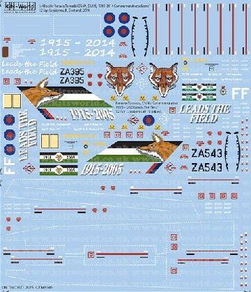 1/48 Panavia Tornado GR4A ZA395 1915-2014, ZA543 1915-2005 Leads the Field Commemorative Schemes - WBS-148146