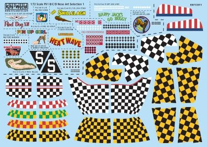 1/72 P51 Kill Markings/Checkers - WBS-172011