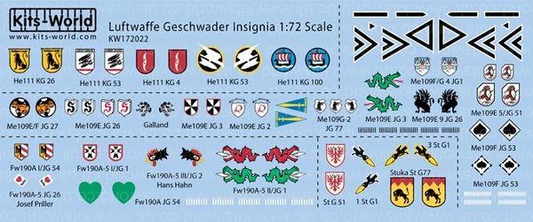 1/72 Luftwaffe Geschwader Insignia (26 Designs) - WBS-172022