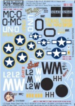 1/72 P38J Scat, Scat II, Texas Terror/Mad Dash, Happy Jack, Wicked Woman - WBS-172055