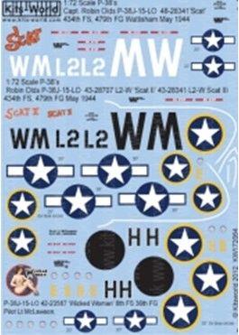 1/72 P38J Scat II in 4 Versions, Wicked Woman - WBS-172064