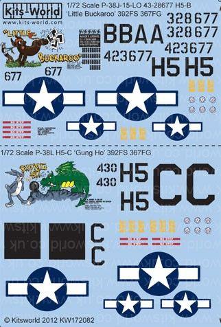 1/72 P38J/L Little Buckaroo, Gung Ho - WBS-172082