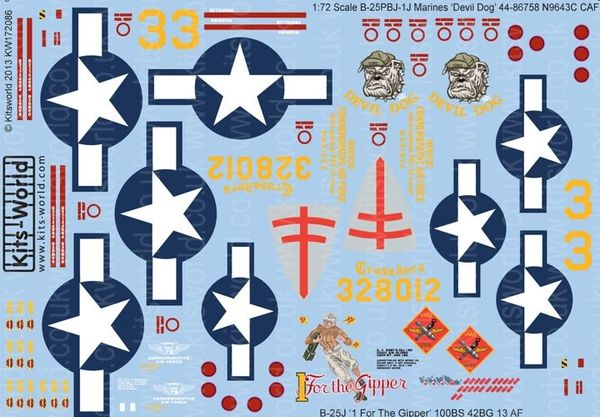 1/72 B25J Devil Dog, 1 For the Gipper - WBS-172086