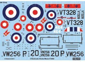 1/72 Gloster Meteor F Mk IV 263rd Sq., 207th Advanced Flying School RAF & 464th Royal Danish Naval Air Service for MPM - WBS-172102