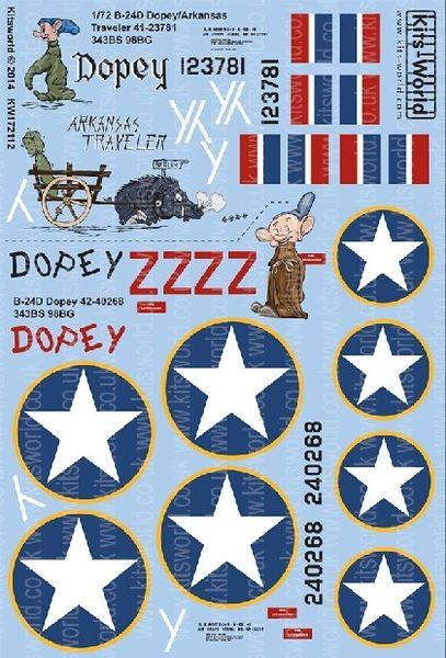 1/72 B24D Dopey Version I/II, Arkansas Traveler - WBS-172112