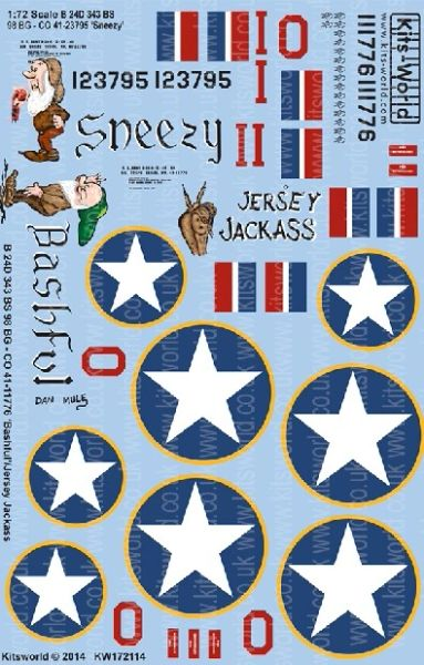 1/72 B24D Sneezy, Bashful, Jersey Jackass - WBS-172114