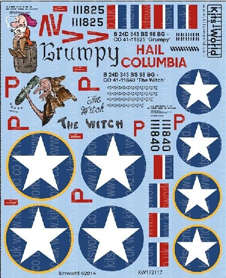 1/72 B24D Grumpy/Hail Columbia, The Witch - WBS-172117