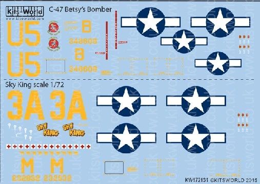 1/72 C47 Betsy's Biscuit Bomber, Sky King - WBS-172131