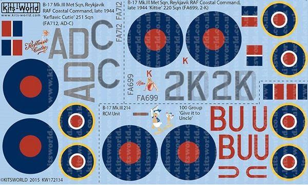 1/72 B17 Mk III Kittie, Keflavic Cutie, Give it to Uncle - WBS-172134
