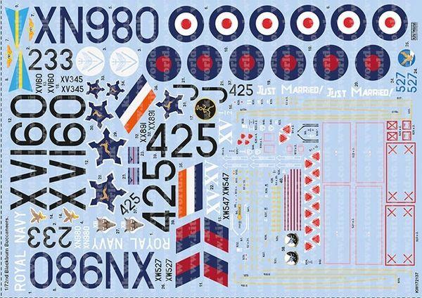 1/72 Blackburn Buccaneers Stencil & Data Information - WBS-172137