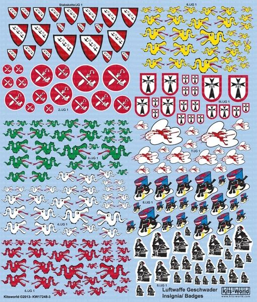 Multi-Scale 1/72, 1/48 Luftwaffe Fighter Unit Emblems Pt.2 - WBS-172483