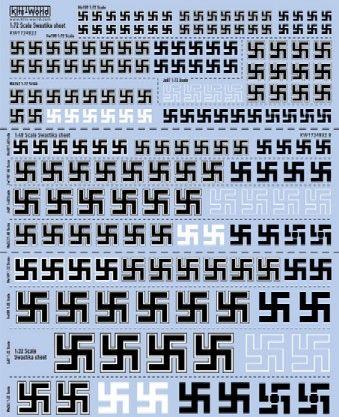 Multi-Scale 1/72, 1/48, 1/32 Swastika Insignia - WBS-1724832