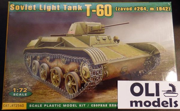 1/72 T60 (Zavod #264 Mod 1942) Soviet Light Tank - ACE 72540